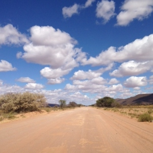 The road to Witsand, Northern Cape (© Briony Chisholm)